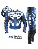 yamaha R1 blue  motorbile leather suit