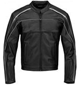 Stylish Black and White Motorcycle Racing Leather Jacket