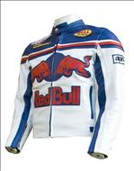 Red Bull Blue White & Red Motorbike Leather Jacket