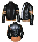 x-men style black soft leather jacket