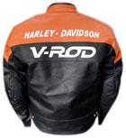 V-ROD Beautiful Color Motorbike Leather Jacket
