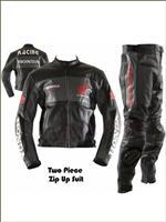 Honda racing motorcycle leather suit