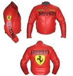 Ferrari Motorbike Racing leather Jacket