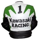 Kawasaki Racing Motorbike Leather Jacket