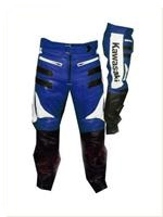 Kawasaki Blue White Biker Leather Pant