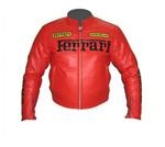 Ferrari Red Motorcycel Racing leather Jacket