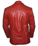mens redish style soft leather jacket