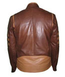 x-men style brown soft leather jacket