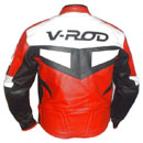 V-ROD Mens Motorbike Leather Jacket