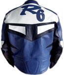 YAMAHA R6 Blue Color Motorbike Leather Jacket