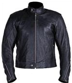 Full black colour motorcycle biker racing leather jacket