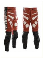 Yamaha Red and Black Biker Leather Pant