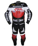 "New Stylish ""HONDA CBR"" Brand  Motorbike Cow Hide Leather Suit"