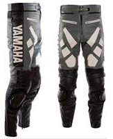 Yamaha Grey and Black Motorcycle Leather Pant