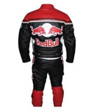 Red Bull Motorbike Cow Hide Leather suit