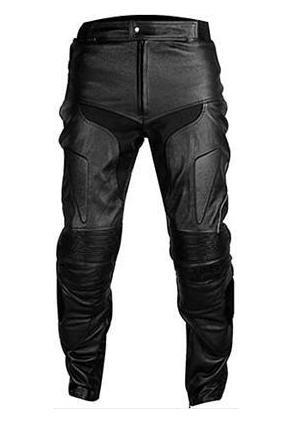 honda black motorbike leather trouser