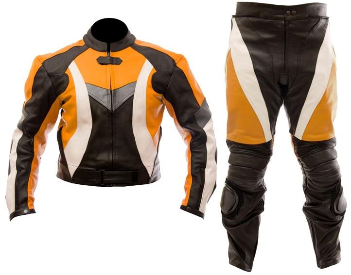 dirt bike motocross leather suit 2 pc
