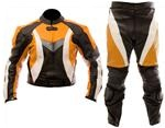 Dirt bike motocross leather suit 2 pc