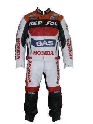 honda repsol gas motorcycle racing leather suit
