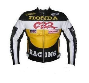 honda cbr motorcyle biker racing  leather jacket