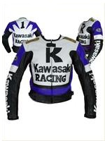Kawasaki Racing blue white black color Motorcycle jacket
