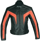stylish Ladies motorbike leather jacket