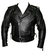 Men Classic TOP GRADE Motorbike Leather Jacket