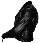 Men Classic TOP GRADE Motorbike Leather Jacket sideview