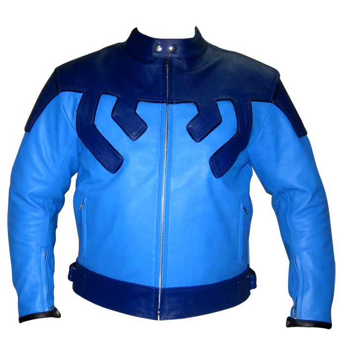 Men Motorcycle Racing  Leather Jacket