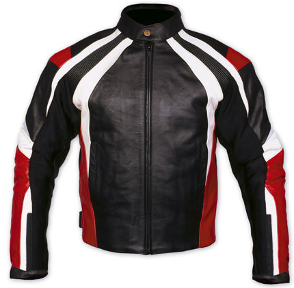 stylish color motorbike leather jacket