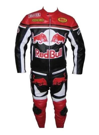red bull motorcycle racing biker leather suit