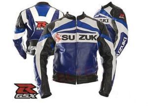 suzuki brand gsxr motorcycle leather jacket