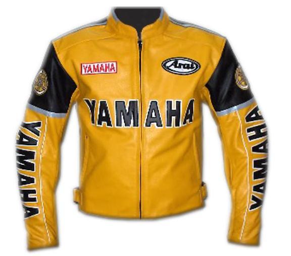 yamaha rder yellow color motorcycle leather jacket