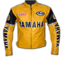 Yamaha Rder Yellow Color Motorcycle Leather Jacket