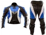 biker racing 2 piece leather suit