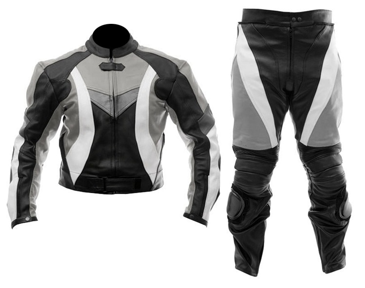 biker racing 2 two piece leather suit