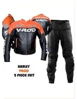 Harley Davidson V ROD Racing Leather Suit Orange Black Color