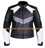 mans motorbike fashion leather jacket