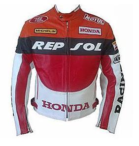 men honda racing repsol motorcycle leather jacket