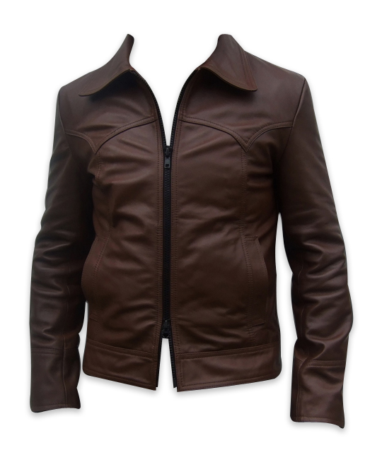 men s soft aniline dark brown leather jacket