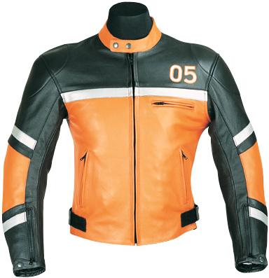orange and black 05 motorcycle leather jacket