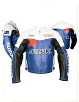 Motul Suzuki Motorcycle Racing Leather Jacket