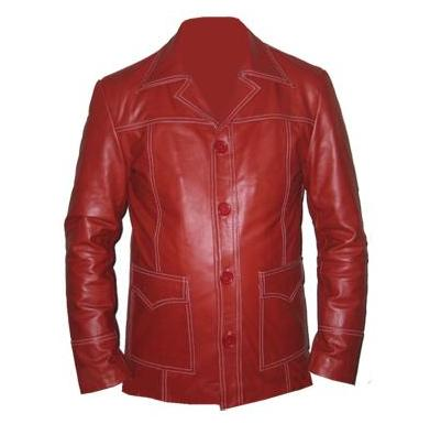 new red color soft aniline leather jacket