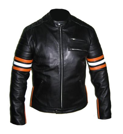 stylish black soft cowhide aniline leather jacket