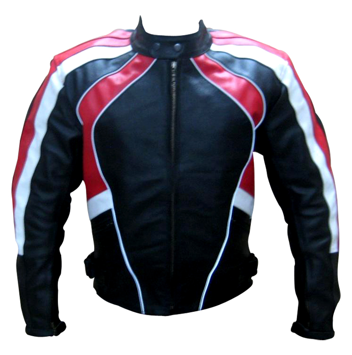 stylish fashion motorbike leather jacket