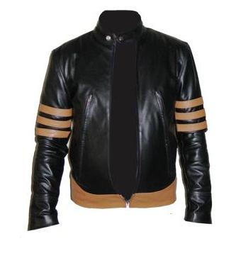 x men style black soft aniline leather jacket